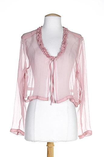 lauren vidal vestes femme de couleur rose