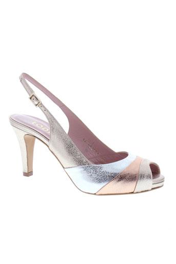 lodi sandales et nu et pieds femme de couleur gris
