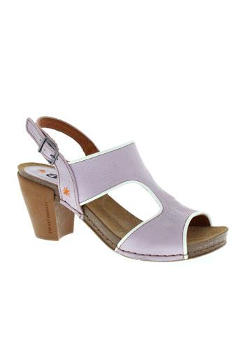 art sandales et nu et pieds femme de couleur violet
