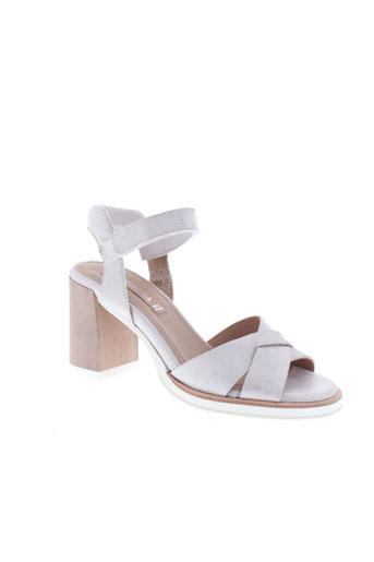 peperosa sandales et nu et pieds femme de couleur gris