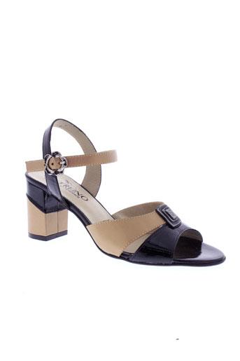 geo et reino sandales et nu et pieds femme de couleur noir