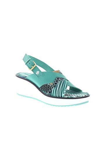 desigual chaussures femme de couleur vert