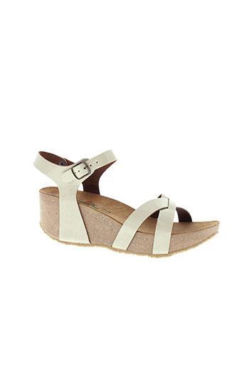 francis et laurent sandales et nu et pieds femme de couleur beige