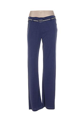 lo! les filles pantalons femme de couleur bleu