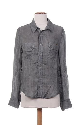 acquaverde chemises femme de couleur gris