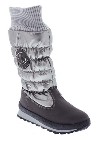 sympatex boots fille de couleur gris