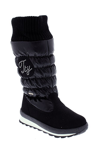 sympatex boots fille de couleur noir