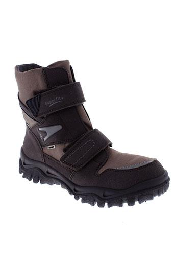 super et fit boots homme de couleur marron