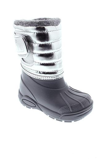 tty bottes fille de couleur gris