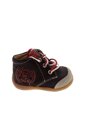 babybotte bottillons garcon de couleur marron