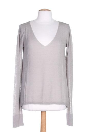 american vintage chemises femme de couleur gris