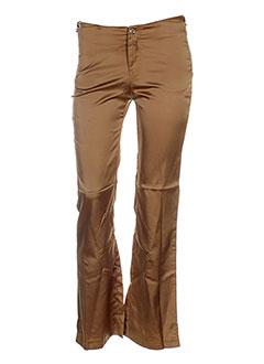 Pantalon chic marron BOUTON ROUGE pour femme