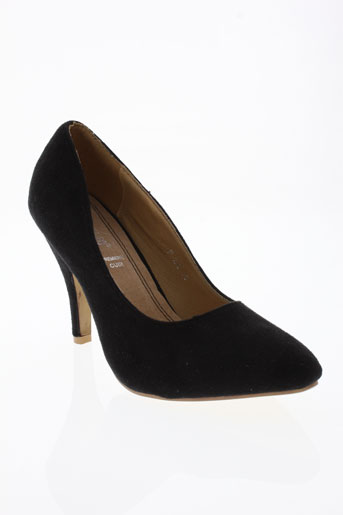 foli folio chaussures femme de couleur noir