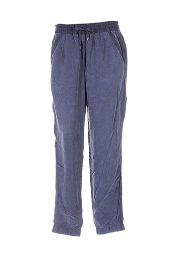 skunkfunk pantalons et decontractes femme de couleur bleu