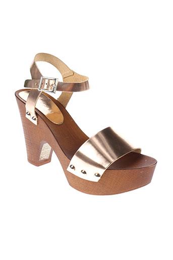 morgan sandales et nu et pieds femme de couleur marron