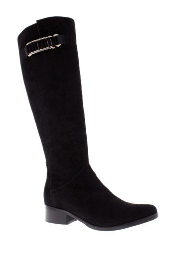 luzzi bottes femme de couleur noir