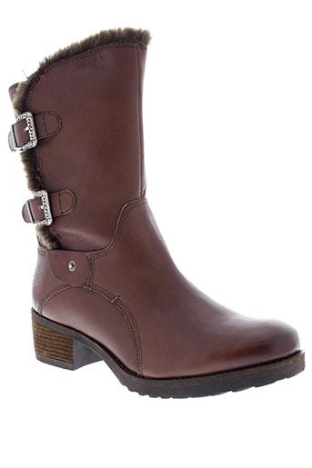 mam et zelle bottes femme de couleur marron