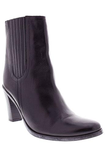 luzzi chaussures femme de couleur noir