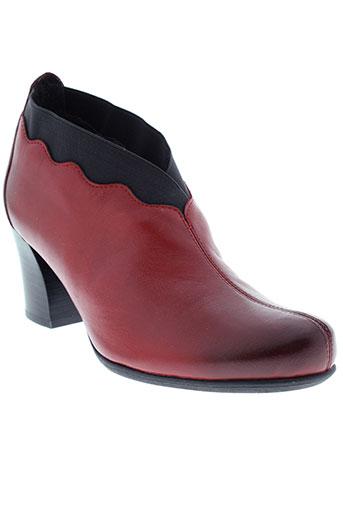 mam et zelle boots femme de couleur rouge