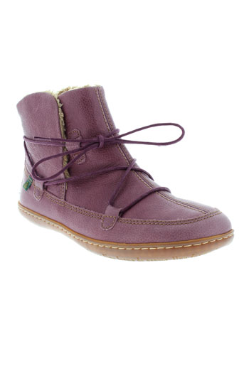 el et naturalista boots femme de couleur violet