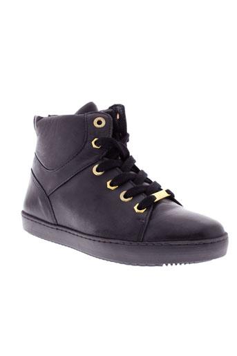 pinto di blu chaussures femme de couleur noir