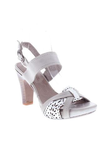 spiral sandales et nu et pieds femme de couleur gris