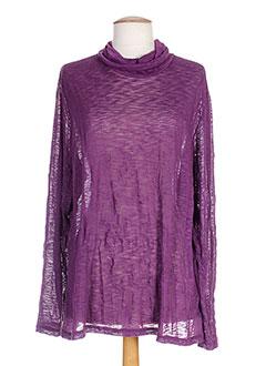 Sous-pull violet OPALINE pour femme