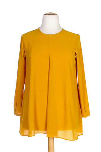 gaia boldetti t-shirts femme de couleur jaune