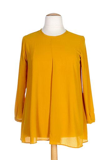 T-shirt manches longues jaune GAIA BOLDETTI pour femme