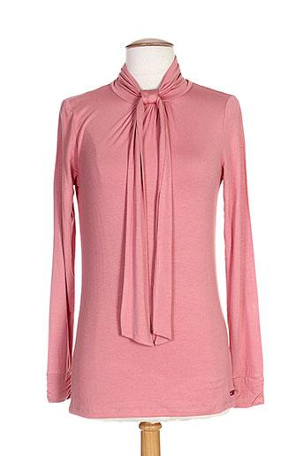 T-shirt manches longues rose RIVER WOODS pour femme