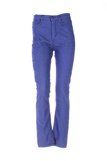 elo pantalons femme de couleur bleu