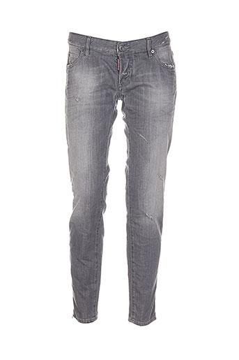 dsquared jeans femme de couleur gris
