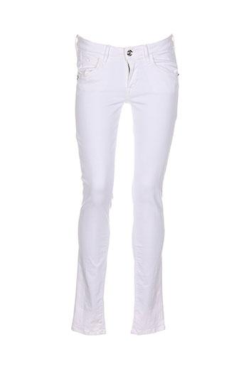 fornarina jeans femme de couleur blanc