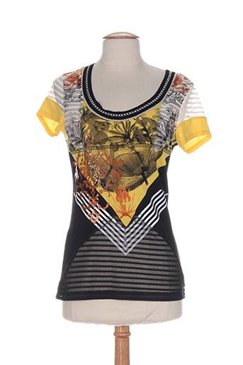 eroke t-shirts femme de couleur noir