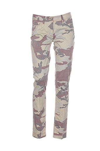 airfield pantalons femme de couleur vert