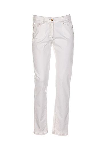 caroline biss pantalons femme de couleur beige
