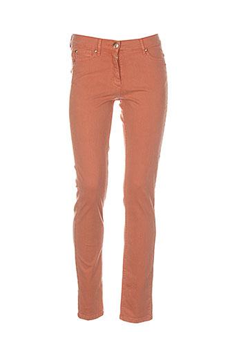 caroline biss pantalons femme de couleur orange