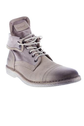 kickers boots homme de couleur beige
