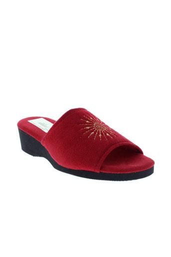 semelflex pantoufle femme de couleur rouge