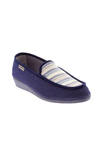semelflex pantoufle femme de couleur bleu
