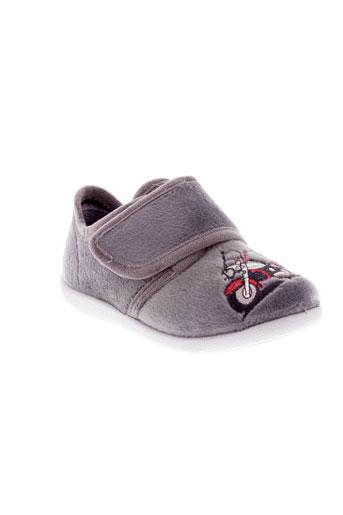 bellamy pantoufle garcon de couleur gris