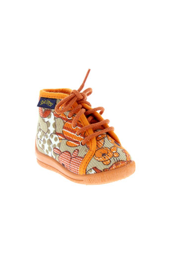bellamy pantoufle enfant de couleur orange