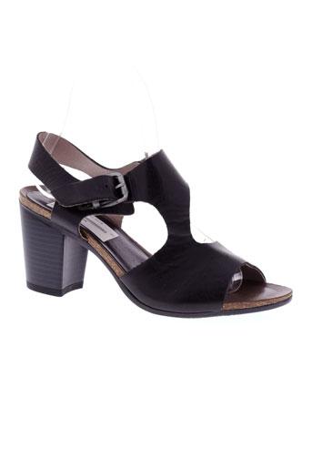 dorking sandales et nu et pieds femme de couleur noir