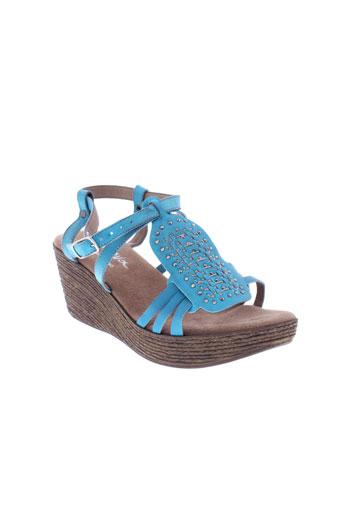 moova sandales et nu et pieds femme de couleur bleu