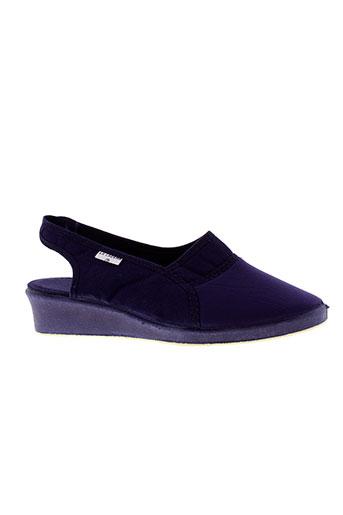 la et cadena sandales et nu et pieds femme de couleur bleu