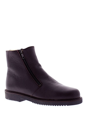 edito bottines homme de couleur marron