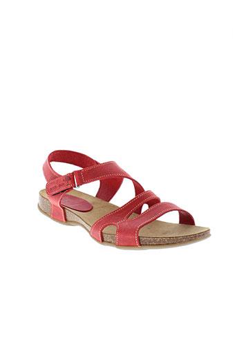 inter et bios sandales et nu et pieds femme de couleur rouge
