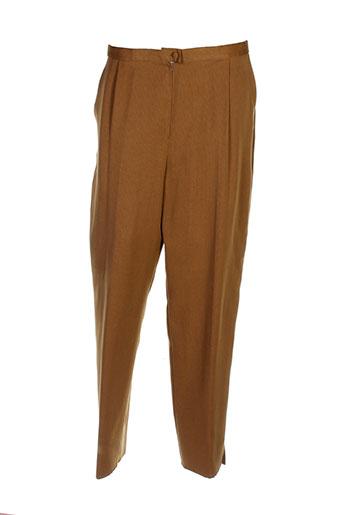 charles guitard pantalons femme de couleur marron