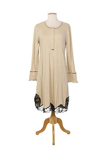 bisbigli chemises et de et nuit femme de couleur beige