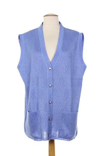 a belle by j.e creation gilets femme de couleur bleu
